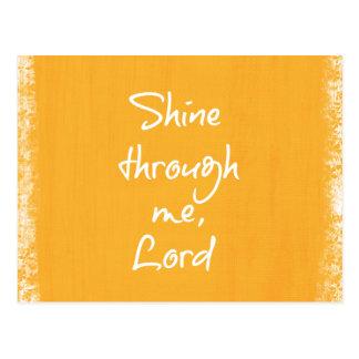Inspirational christliches postkarten