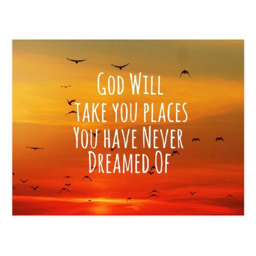 Inspirational christliches Zitat: Gott wird es tun Postkarten