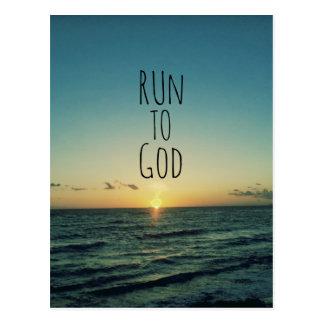 Inspirational christliches Zitat laufen gelassen
