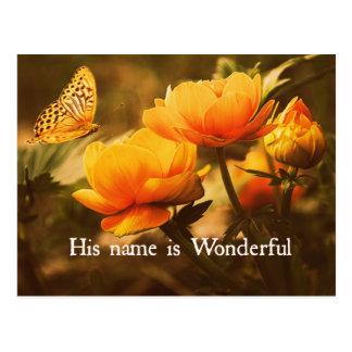 Inspirational christliches Zitat: Sein Name ist Postkarten