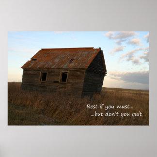 Inspirational Druck praire Zitat des alten Gebäude Poster