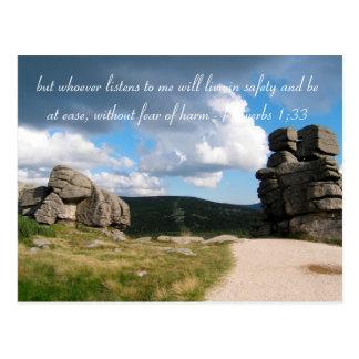 Inspirational Foto-Berge des Zitat-  Postkarten