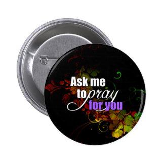 Inspirational geistiger christlicher runder button 5,1 cm