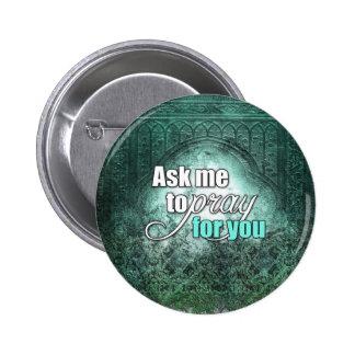 Inspirational geistiger christlicher runder button 5,7 cm