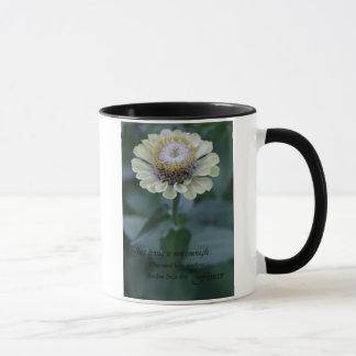 Inspirational gelbe Blumenphotographie-Kaffeetasse Tasse