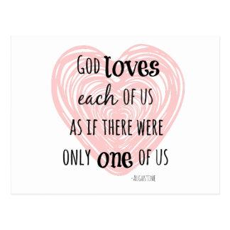 Inspirational Gott-und Liebe-Zitat Postkarten