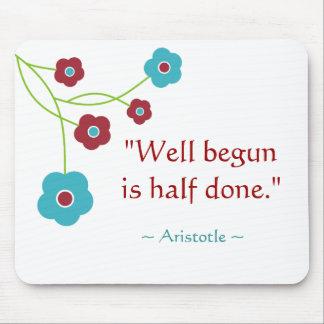 Inspirational motivierend Aristoteles-Zitat Mauspads