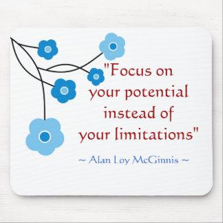 Inspirational motivierend Zitat Mousepad