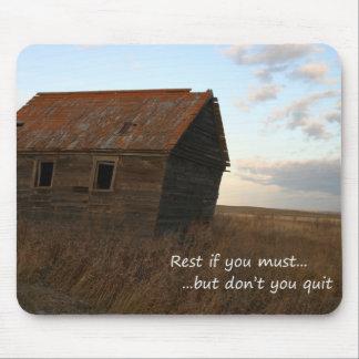 inspirational praire Zitat des alten Gebäude Mousepads
