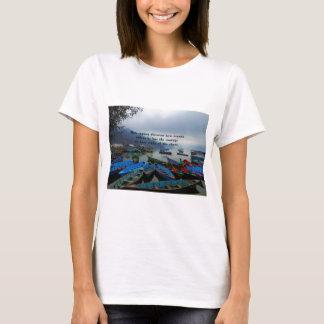 Inspirational Reisezitat ENTDECKUNGS-Boots-Foto T-Shirt