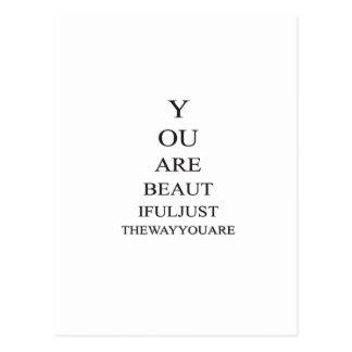 Inspirational Schönheits-Liebe-Zitat Postkarten