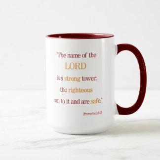 Inspirational Segen-Sprichwort-18:10 Tasse