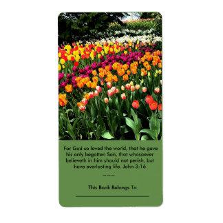 Inspirational Tulpeaufkleber kann als Buchzeichen