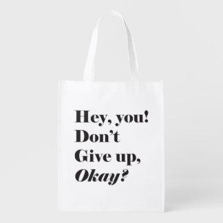Inspirational und aufmunternde Zitat Markt-Taschen Wiederverwendbare Einkaufstasche
