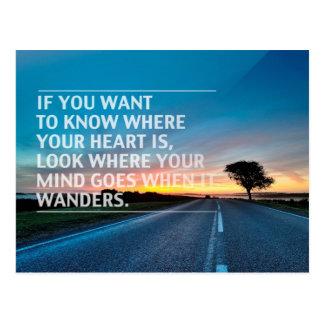 Inspirational und motivierend Zitate Postkarten