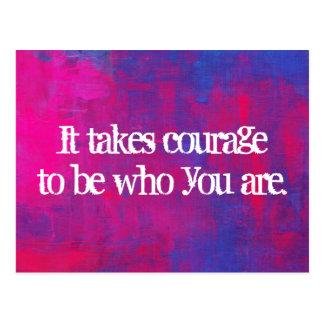 Inspirational Zitat auf abstraktem Hintergrund Postkarte