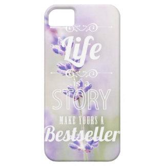 inspirational Zitat der lila LavendelblumenBlume iPhone 5 Etuis