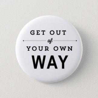 Inspirational Zitat, niedliches weißes Abzeichen Runder Button 5,1 Cm