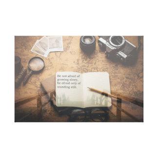 Inspirational Zitat Steampunk Leinwand-Druck Leinwanddruck