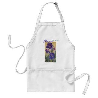 Inspirations-Blüten-Iriswatercolor-Kunst-Schürze Schürze