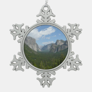 Inspirations-Punkt in Yosemite Nationalpark Schneeflocken Zinn-Ornament