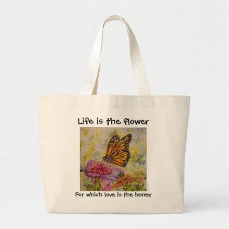 Inspirations-Schmetterlings-Kunst-riesige Jumbo Stoffbeutel