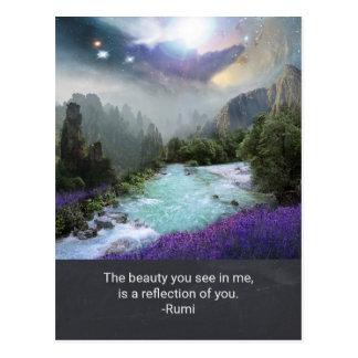Inspirations-Zitat auf Schönheit von Rumi Postkarte
