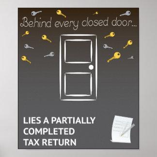 Inspirieren aber… Steuererklärungen Poster