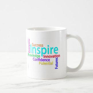 Inspirieren der Wort-Collage Kaffeetasse