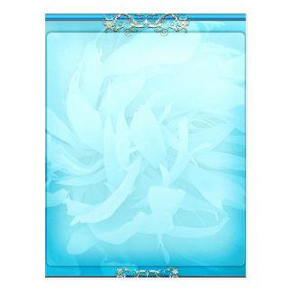 Inspirieren des Aquablauen Blumengeschenks Postkarten