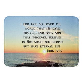 INSPIRIEREN DES JOHN-3:16 BADEMATTE