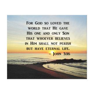 INSPIRIEREN DES JOHN-3:16 LEINWANDDRUCK