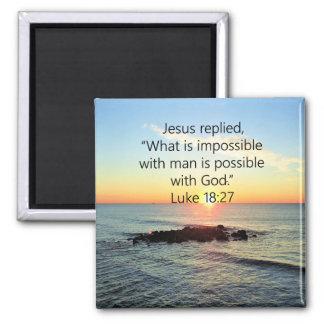 INSPIRIEREN DES LUKE-18:27 QUADRATISCHER MAGNET