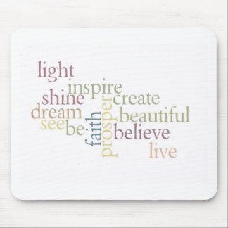 Inspirieren Sie Glauben Mauspads