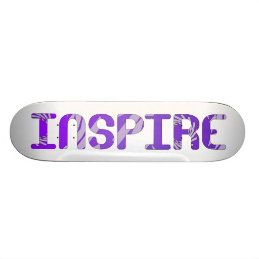 Inspirieren Sie - Lila Bedruckte Skateboarddecks