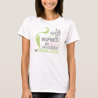 Inspirieren von Lebenzitattypographie T-Shirt