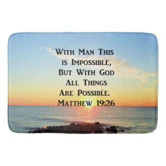 INSPIRIEREN VON VON SONNENAUFGANG-MATTHEW-19:26 BADEMATTE