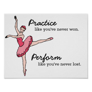 Inspirierend Ballett-Tänzer-Plakat Poster