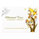 Inspirierend Baum-Massage-Therapie-Visitenkarten
