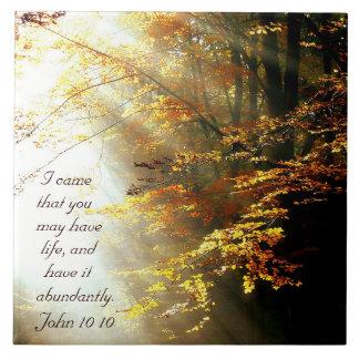 Inspirierend Bibel-Vers John 10 10 Fall-Bäume Keramikfliese