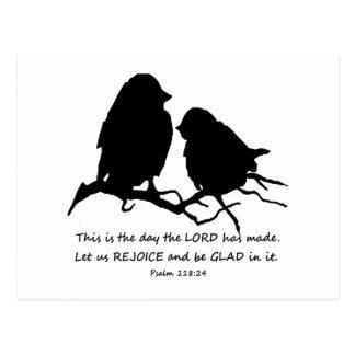 Inspirierend Bibel-Vers-Psalm-118:24 Vögel Postkarte