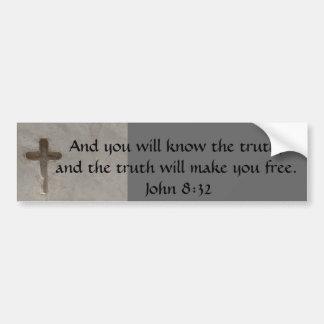 Inspirierend Bibel-Vers WAHRHEIT John-8:32 Autoaufkleber
