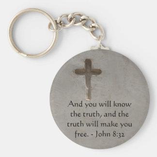 Inspirierend Bibel-Vers WAHRHEIT John-8:32 Schlüsselanhänger