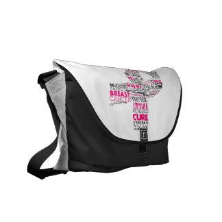 Inspirierend Brustkrebs-Bewusstseins-Band Kurier Tasche