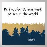 Inspirierend Gandhi Zitat-Plakat-Kunst-Druck Poster