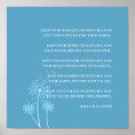 Inspirierend Gandhi Zitat-positive denkende Poster