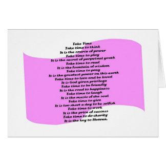 Inspirierend Gedicht Karte