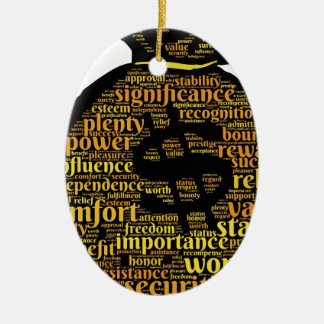 Inspirierend Geld-Typografie Ovales Keramik Ornament