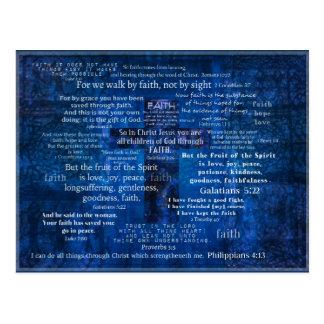 Inspirierend Glauben-Bibel-Verse Postkarten
