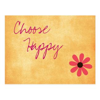 Inspirierend glückliche Mitteilungs-Postkarte Postkarte